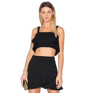 Lovers + Friends Frill Crop Top & Stellar Skirt